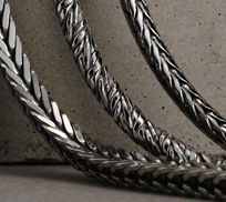 Sterling Silver Foxtail Chain Necklaces