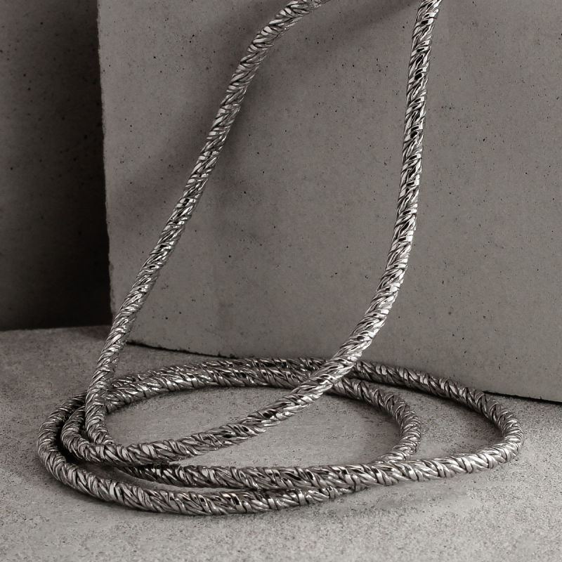 Sterling Silver Twisted Foxtail Chain