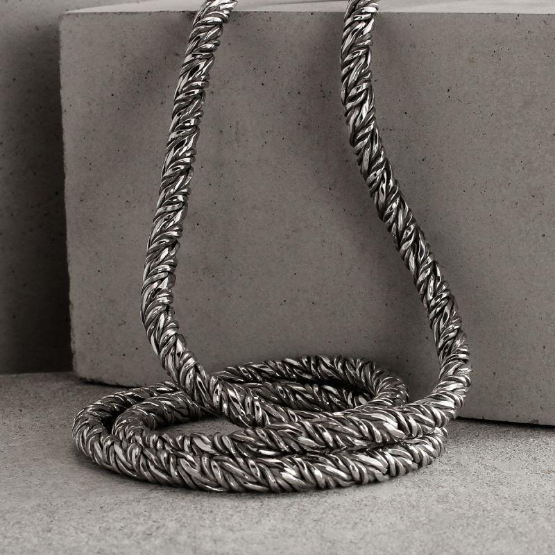 Silver Fox Tail Chain